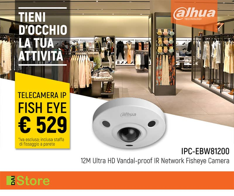 DAHUA - IP CAM FISH EYE